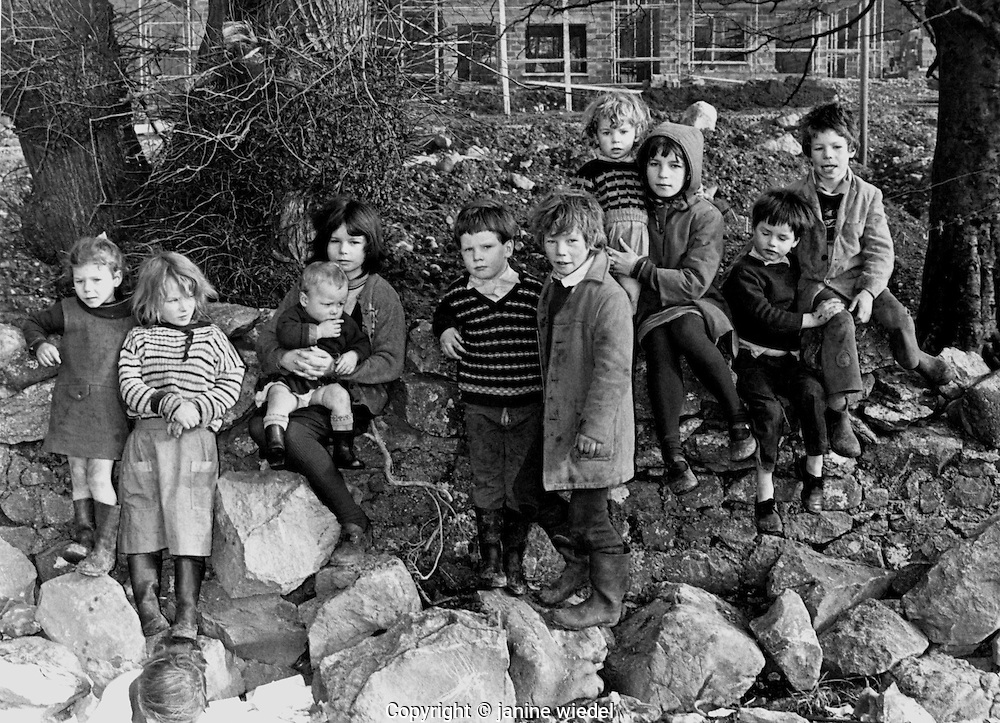 Irish Tinker Traveller children of large family Southern Ireland in the 1970's.
