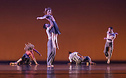 Ririe-Woodbury Dance Company performs during the closing session of the National Assembly of State Arts Agencies (NASAA) 2015 Leadership Institute at the Rose Wagner Performing Arts Center in Salt Lake City, Utah