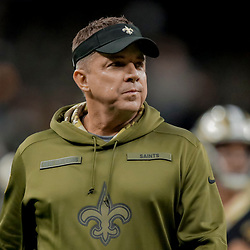Dec 23, 2018; New Orleans, LA, USA; New Orleans Saints head coach Sean Payton prior to kickoff against the Pittsburgh Steelers at the Mercedes-Benz Superdome. Mandatory Credit: Derick E. Hingle-USA TODAY Sports