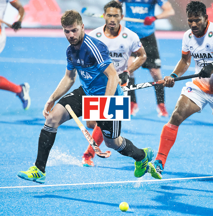 BHUBANESWAR -  Hockey World League finals , Semi Final . Argentina v India. Alan Andino (Arg)  COPYRIGHT KOEN SUYK