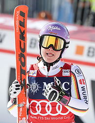 27.01.2018, Lenzerheide, SUI, FIS Weltcup Ski Alpin, Lenzerheide, Riesenslalom, Damen, 2. Lauf, im Bild Viktoria Rebensburg (GER) // Viktoria Rebensburg of Germany reacts after her 2nd run of ladie's Giant Slalom of FIS ski alpine world cup in Lenzerheide, Austria on 2018/01/27. EXPA Pictures © 2018, PhotoCredit: EXPA/ Sammy Minkoff<br /> <br /> *****ATTENTION - OUT of GER*****
