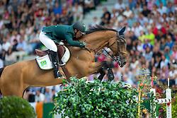 Alvarez Doda De Miranda, (BRA), AD Rahmannshof's Bogeno - World Champions, - Second Round Team Competition - Alltech FEI World Equestrian Games™ 2014 - Normandy, France.<br /> © Hippo Foto Team - Leanjo De Koster<br /> 25/06/14