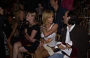 Ophelie Winters, Kiera Chaplin and Rosanna Arquette. Christian Dior couture show. Ecole Nationale Superiore des Beaux- Arts. Paris. 7 July 2001. © Copyright Photograph by Dafydd Jones 66 Stockwell Park Rd. London SW9 0DA Tel 020 7733 0108 www.dafjones.com