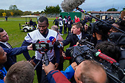 Darren Fells (TE) of the Houston Texans (87) during the media day / training session / press conference for Houston Texans at London Irish Training Ground, Hazelwood Centre, United Kingdom on 1 November 2019.