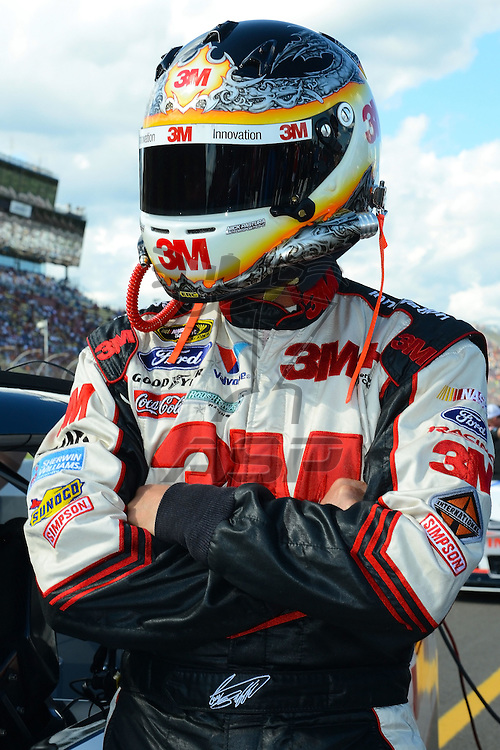 Brooklyn, MI  - Aug 17, 2012: Greg Biffle (16) stands on pit row during qualifying for the Pure Michigan 400 at Michigan International Speedway in Brooklyn, MI.