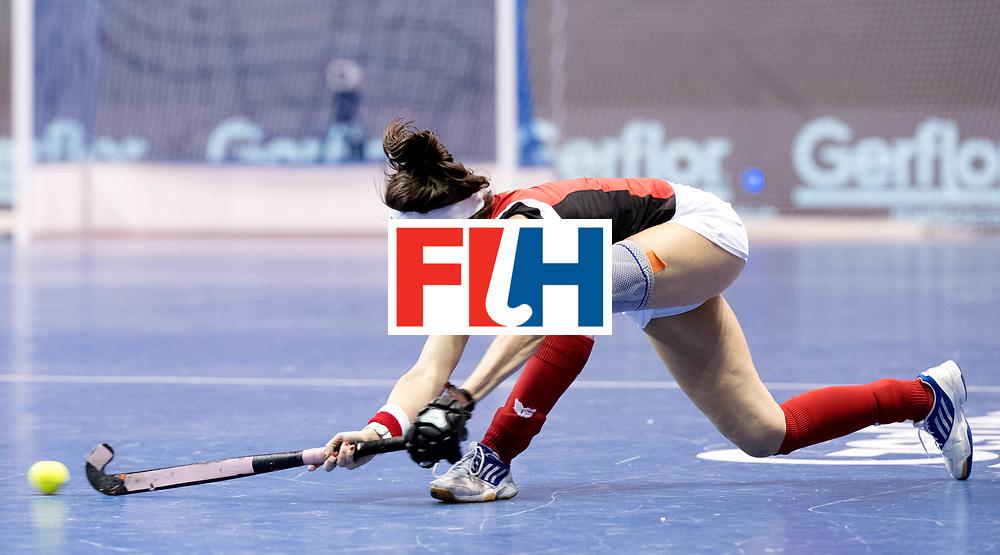 BERLIN - Indoor Hockey World Cup<br /> Women: Poland - USA<br /> foto: KATERLA Amelia.<br /> WORLDSPORTPICS COPYRIGHT FRANK UIJLENBROEK