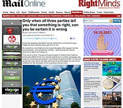 Tearsheet from the Mail Online; ECB headquarters in Frankfurt