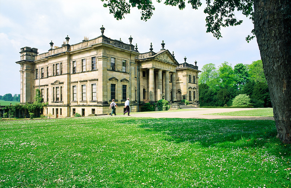 Duncombe Park House near Helmsley in North Yorkshire, England. Exterior and gardens.