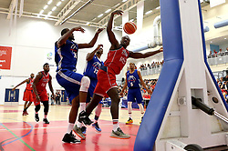 Daniel Edozie of Bristol Flyers tries to get the ball under control - Mandatory by-line: Robbie Stephenson/JMP - 08/09/2016 - BASKETBALL - SGS Arena - Bristol, England - Bristol Flyers v USA Select - Preseason Friendly
