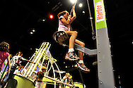 Downtown Charlotte science museum Discovery Place, new hands-on and marine exhibits opened summer 2010. This is  playing with physics in the new Cool Stuff exhibit.
