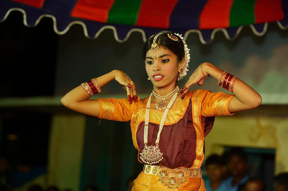 Trad. dancing, CRINEO school, Pulicat town, Pulicat Lake, Tamil Nadu, India