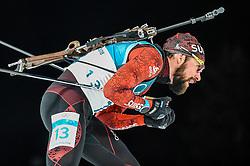 February 18, 2018 - Pyeongchang, Gangwon, South Korea - Benjamin Weger of Switzerland competing in  15 km mass start biathlon at Alpensia Biathlon Centre, Pyeongchang,  South Korea on February 18, 2018. (Credit Image: © Ulrik Pedersen/NurPhoto via ZUMA Press)