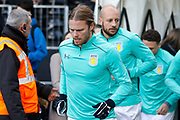 Aston Villa midfielder Birkir Bjarnason (20) during the EFL Sky Bet Championship match between Fulham and Aston Villa at Craven Cottage, London, England on 17 February 2018. Picture by Andy Walter.