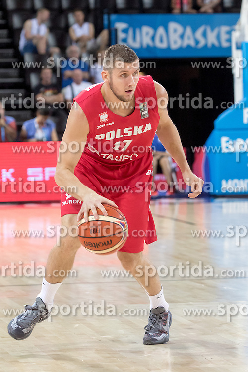 06.09.2015, Park Suites Arena, Montpellier, FRA, Russland vs Polen, Gruppe A, im Bild PRZEMYSLAW ZAMOJSKI (17) // during the FIBA Eurobasket 2015, group A match between Russia and Poland at the Park Suites Arena in Montpellier, France on 2015/09/06. EXPA Pictures &copy; 2015, PhotoCredit: EXPA/ Newspix/ Pawel Pietranik<br /> <br /> *****ATTENTION - for AUT, SLO, CRO, SRB, BIH, MAZ, TUR, SUI, SWE only*****