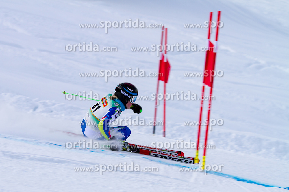 Meta Hrovat competing in giant slalom at 12th European Youth Olympic Winter Festival in Vorarlberg and Liehtenstein on January 28, 2015. (Photo by Peter Kastelic / Sportida.com)