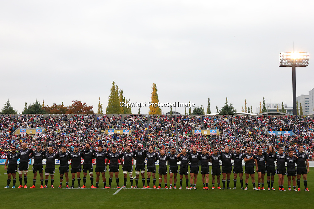 Maori All Blacks team group (Maori All Blacks),<br /> NOVEMBER 8, 2014 - Rugby : <br /> International rugby friendly match <br /> between Japan XV 18-20 Maori All Blacks <br /> at Chichibunomiya Rugby Stadium, Tokyo, Japan. <br /> (Photo by Shingo Ito/AFLO SPORT) [1195]