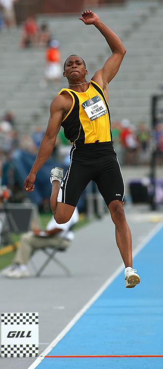 KITCHENS - 13USA, Des Moines, Ia. - George Kitchens won the men's long jump. Photo by David Peterson