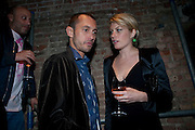 DAN MACMILLAN; MEREDITH OSTRON, Early launch of Rupert's. Robin Birley  new premises in Shepherd Market. 6 Hertford St. London. 10 June 2010. .-DO NOT ARCHIVE-© Copyright Photograph by Dafydd Jones. 248 Clapham Rd. London SW9 0PZ. Tel 0207 820 0771. www.dafjones.com.
