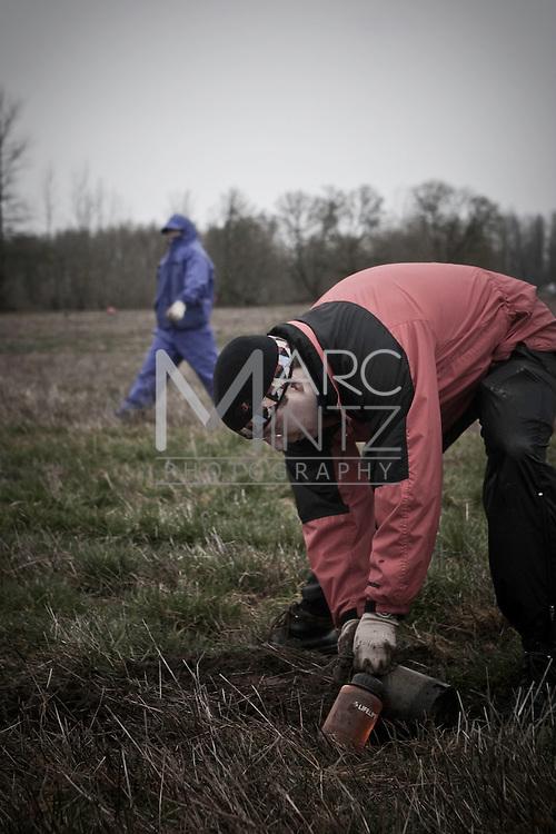 McKenzie River Trust tree planting.  Eugene, Oregon.