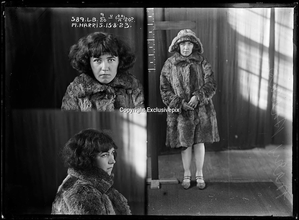 The barber shop slasher, the back-street abortionist and the 'parasite in a skirt': Vintage Australian mugshots reveal some of the country's earliest women criminals<br /> <br /> Haunting images of the past have emerged, showing vintage black and white portraits of Australian women.<br /> But these are no ordinary women. These are the not-so-innocent faces of convicted criminals who were put behind bars from the 1880s to 1930s.<br /> Among them include the infamous razor gangster and prominent madam of the times - Matilda 'Tilly' Devine.<br /> Others include backyard abortionists, drug dealers and those convicted of bigamy, drunkenness and theft.<br /> most of them were sent to the State Reformatory for Women, Long Bay - south of Sydney - which is now known as&nbsp;Long Bay Correctional Complex.<br /> <br /> <br /> Photo shows:  Mary Harris, criminal record number 589LB, 15 August 1923. State Reformatory for Women, Long Bay, NSW .<br /> <br /> No further information.<br /> &copy;NSW Police Gazette/Exclusivepix