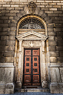 Amazing Hungarian Doorway with Carvings above, Budapest Hungary