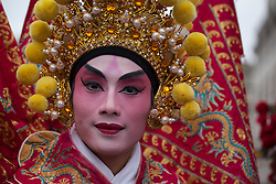 © licensed to London News Pictures. London, UK 10/02/13. Chinese New Year Parade goes through streets of London to celebrate Chinese New Year, The Year of the Snake with Londoners on Sunday, 10 February 2013. Photo credit: Tolga Akmen/LNP