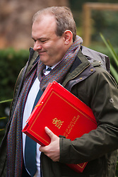 London, March 3rd 2015. Members of the cabinet arrive at 10 Downing Street for their weekly meeting. PICTURED: Secretary of State for Energy and Climate Change, Edward Davey
