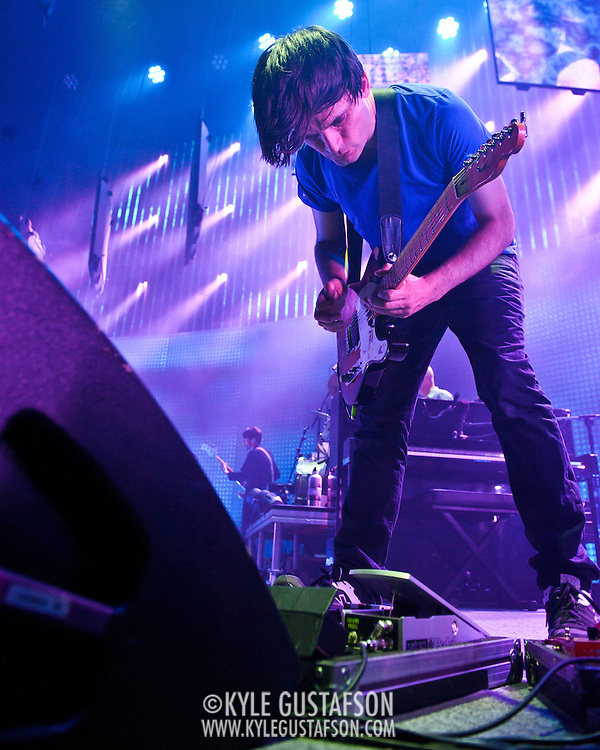 WASHINGTON, DC - June 3rd, 2012 - Jonny Greenwood of Radiohead performs at the Verizon Center in Washington, D.C.  It was the first time the band performed in the metro-D.C. area since their infamous show in the rain at Nissan Pavilion in 2008. (Photo by Kyle Gustafson/For The Washington Post)
