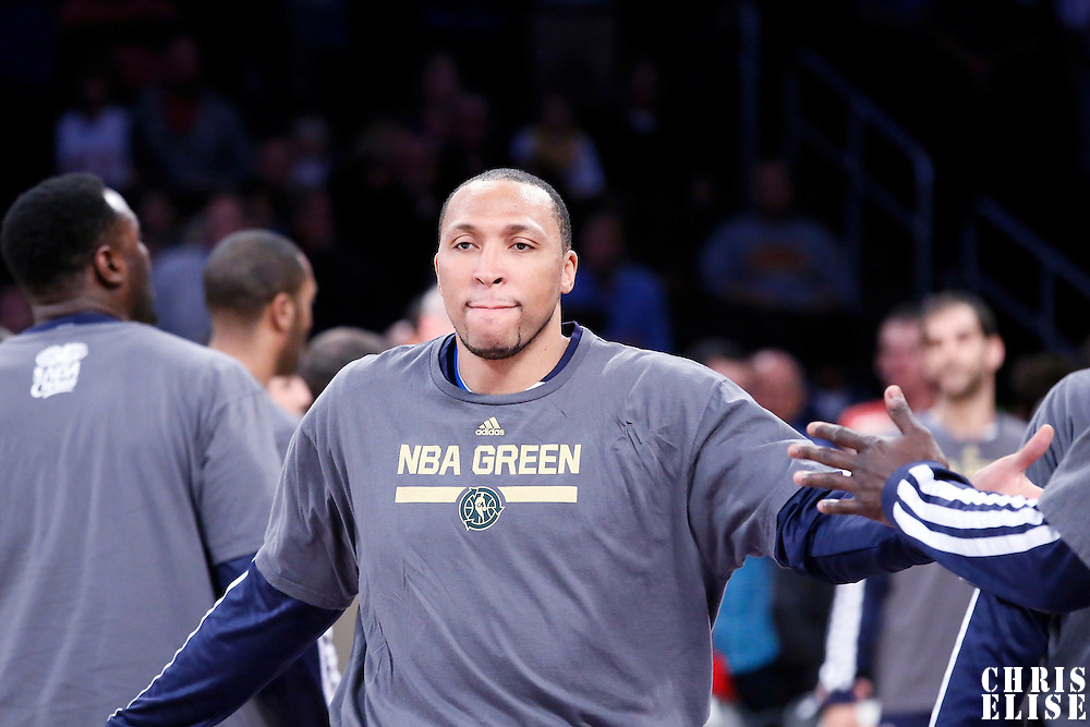 04 April 2014: Dallas Mavericks forward Shawn Marion (0) is seen during the players introduction prior to the Dallas Mavericks 107-95 victory over the Los Angeles Lakers at the Staples Center, Los Angeles, California, USA.
