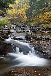 Fall along the East Branch of Indian Stream in Pittsburg, New Hampshire.