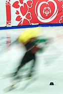 Graz, Austria - 2017 March 22: Speed Skating 222 meters race while Special Olympics World Winter Games Austria 2017 at Icestadium Graz Liebenau on March 22, 2017 in Graz, Austria.<br /> <br /> Mandatory credit:<br /> Photo by © Adam Nurkiewicz / Mediasport<br /> <br /> Adam Nurkiewicz declares that he has no rights to the image of people at the photographs of his authorship.<br /> <br /> Picture also available in RAW (NEF) or TIFF format on special request.<br /> <br /> Any editorial, commercial or promotional use requires written permission from the author of image.<br /> <br /> Image can be used in the press when the method of use and the signature does not hurt people on the picture.