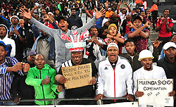 Cape Town 180314Orland Pirates fans cheer for their team before their game against Cape Town cITY i at the Cape Town Stadium. Photograph:Phando Jikelo/AFRICAN NEWS AGENCY/ANA