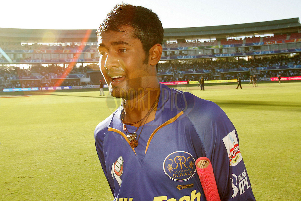 PORT ELIZABETH, SOUTH AFRICA - 02 May 2009. Abhishek Raut during the IPL Season 2 match between the Deccan Chargers and the Rajatshan Royals held at St Georges Park in Port Elizabeth , South Africa..