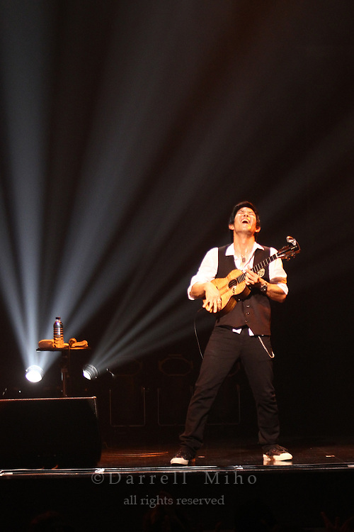 """Aug. 14, 2010 ; Osaka, JPN - Jake Shimabukuro live at Namba Hatch in Osaka. Opening night for the """"I Love Ukulele Tour 2010""""."""
