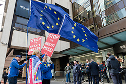 April 30, 2019 - London, Greater London, United Kingdom - Anti-Brexit protestors gather outside Labout Party headquarters for a meeting of the National Executive Committee (NEC) of the Labour Party on 30 April, 2019 in London, England. Labour's governing body meet today to decide whether to back a referendum on any Brexit deal and agree its draft European elections manifesto. (Credit Image: © Wiktor Szymanowicz/NurPhoto via ZUMA Press)