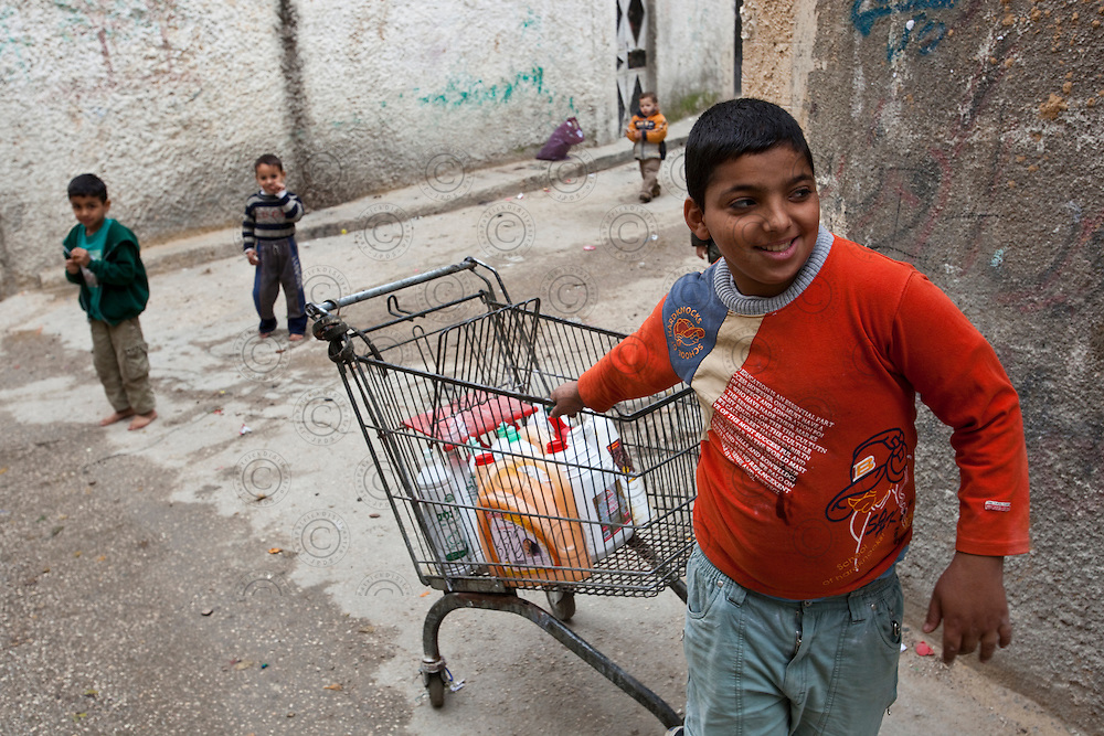 Daily life in the palestinian refugee camp of Balata, near the city of Nablus.It hosts over 20,000 refugees in this populated refugee camps in Palestine.
