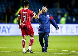 Bristol City Head Coach Lee Johnson thanks Korey Smith  after a 0-0 draw - Rogan/JMP - 18/11/2017 - Hillsborough Stadium - Sheffield, England - Sheffield Wednesday v Bristol City - Sky Bet Championship.
