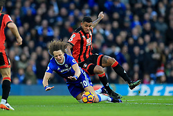 David Luiz of Chelsea is tackled by Joshua King of Bournemouth - Mandatory by-line: Jason Brown/JMP - 26/12/2016 - FOOTBALL - Stamford Bridge - London, England - Chelsea v Bournemouth - Premier League