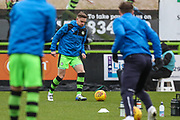 Forest Green Rovers Dayle Grubb(8) warming up during the EFL Sky Bet League 2 match between Forest Green Rovers and Coventry City at the New Lawn, Forest Green, United Kingdom on 3 February 2018. Picture by Shane Healey.