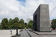 Monument to the heroes of the Warsaw Ghetto.