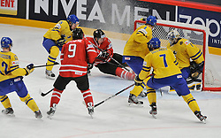 01.05.2013, Globe Arena, Stockholm, SWE, IIHF, Eishockey WM, Vorberichte, im Bild Sverige Sweden 1 Goalkeeper Jhonas Enroth // during the IIHF Icehockey World Championship Game between Canada and Sweden at the Ericsson Globe, Stockholm, Sweden on 2013/05/16. EXPA Pictures © 2013, PhotoCredit: EXPA/ PicAgency Skycam/ Simone Syversson..***** ATTENTION - OUT OF SWE *****