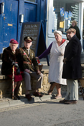Reenactors Pickering 1940s war weekend 16th-18th October 2009 Image Copyright Paul David Drabble
