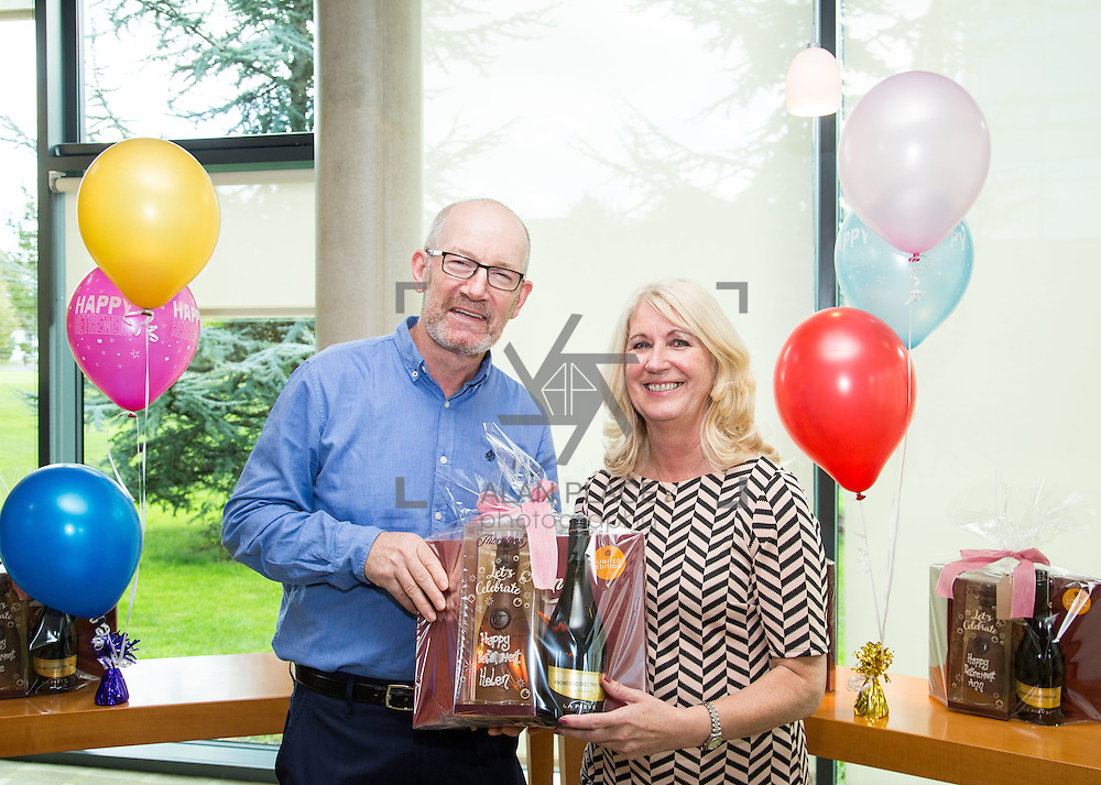 30.09.2016       <br /> University of Limerick ITD Retirement Gathering, Millstream Common room. <br /> Declan Maguire makes a presentation to retiree, Helen Killilea. Picture: Alan Place