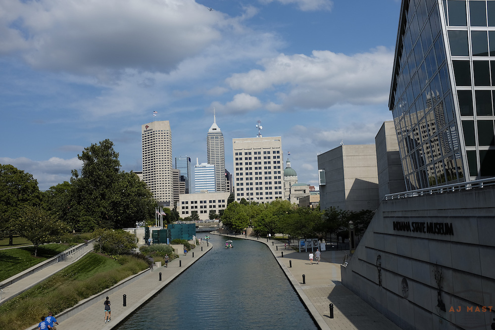Indianapolis downtown Canal, blue sky day Wednesday, Aug. 13, 2013. (Photo by AJ Mast)