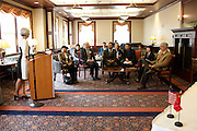 Dr. Lorna Jean Edmonds speaks at a signing of a Memorandum of Understanding between Beijing International Studies University and Ohio University at Baker Center on October 15, 2013. Photo by Stephen Reiss.