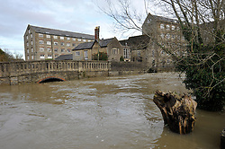 © Licensed to London News Pictures. 25/11/2012. Malmesbury, UK. Picture of flooding in the centre of Malmesbury.  25 November 2012..Photo credit : Simon Chapman/LNP