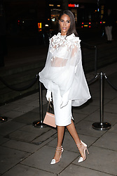 Cindy Bruna arrives at the Late Fabulous Fund Fair at the Roundhouse in London during the Autumn/Winter 2019 London Fashion Week. PRESS ASSOCIATION. Picture date: Monday February 18, 2019. Photo credit should read: Isabel Infantes/PA Wire