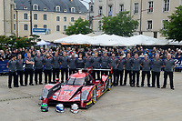 Car of Nicolas Prost (FRA) / Nelson Piquet Jr (BRA) / Nick Heidfeld (DEU) #12 Rebellion Racing Rebellion R-One AER, with the team during the Le Mans 24 Hr June 2016 at Circuit de la Sarthe, Le Mans, Pays de la Loire, France. June 13 2016. World Copyright Peter Taylor/PSP.