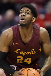 10 January 2018:  Aundre Jackson during a College mens basketball game between the Loyola Chicago Ramblers and Illinois State Redbirds in Redbird Arena, Normal IL