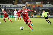 Marcus Browne (10) of Middlesbrough on the attack during the EFL Sky Bet Championship match between Swansea City and Middlesbrough at the Liberty Stadium, Swansea, Wales on 14 December 2019.